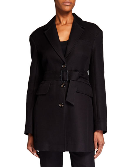 Co Cotton Blazer with Removable Belt
