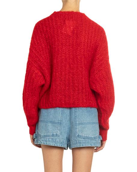 Isabel Marant Chunky-Knit Crewneck Sweater