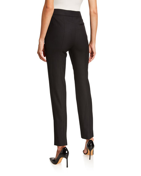 Image 2 of 5: Oscar de la Renta Stretch-Wool Straight-Leg Suit Pants