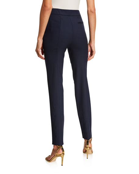 Image 3 of 5: Oscar de la Renta Stretch-Wool Straight-Leg Suit Pants