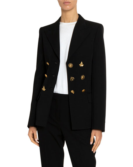 Givenchy Martingale Button Wool Structured Jacket