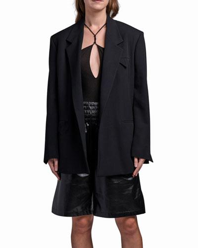 Cashmere Oversized Menswear Jacket