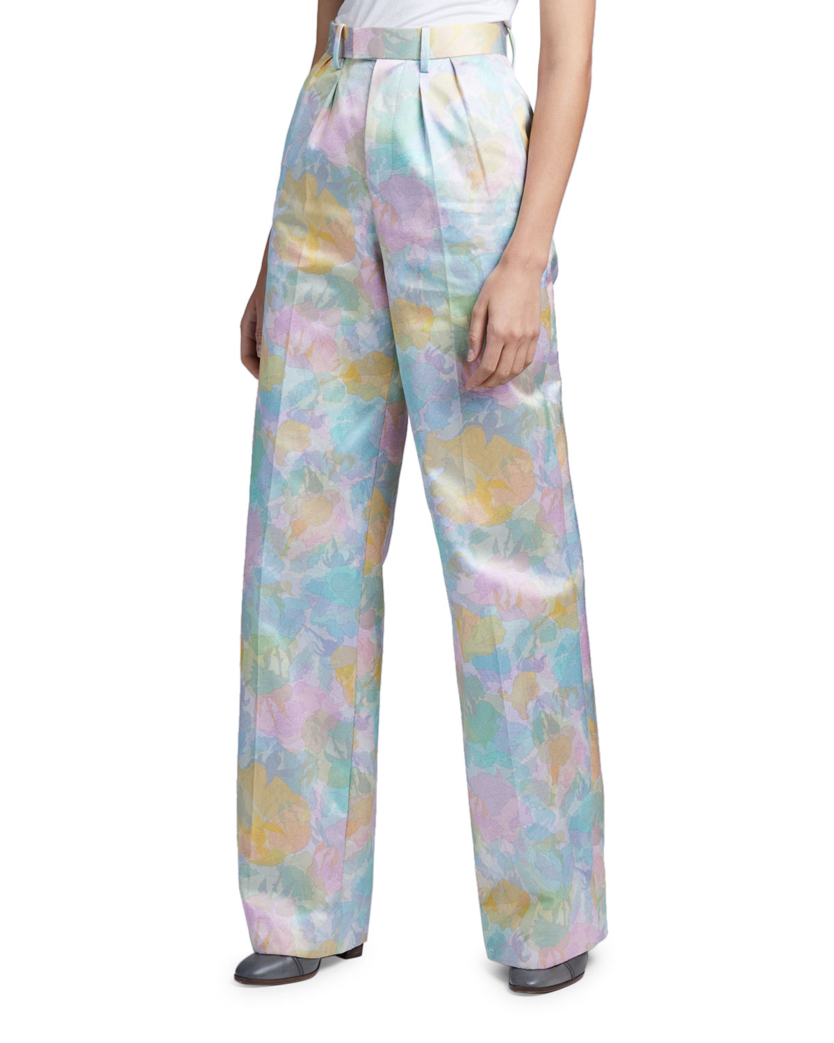 Marc Jacobs (Runway) Brocade Silk-Cotton Pleated Pants