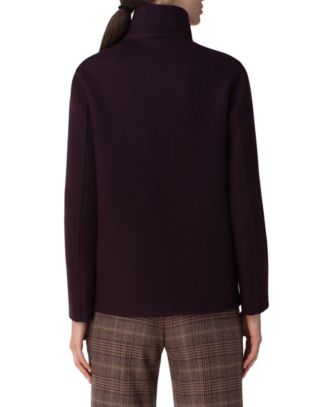 Image 2 of 3: Akris Kandis Stand Collar Cashmere Jacket