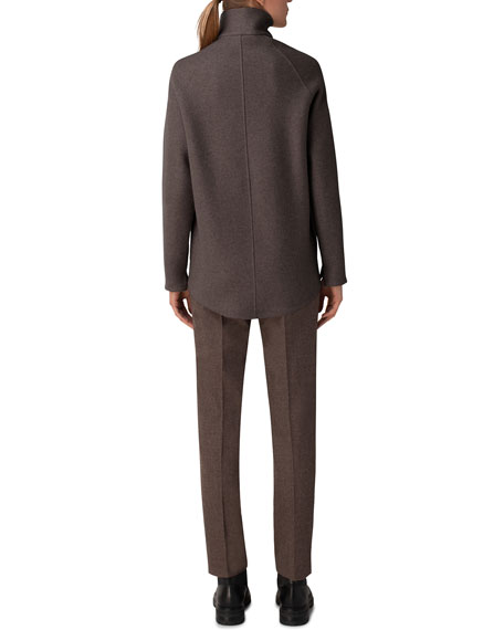 Image 2 of 3: Akris Ray Cashmere Jersey Industrial-Zip Jacket