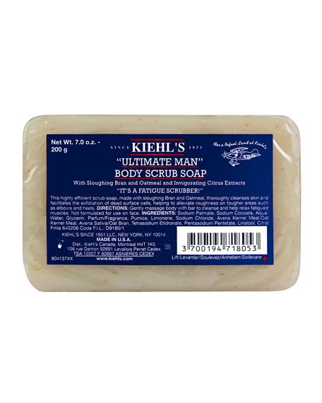"""Ultimate Man"" Body Scrub Soap, 7.0 oz."