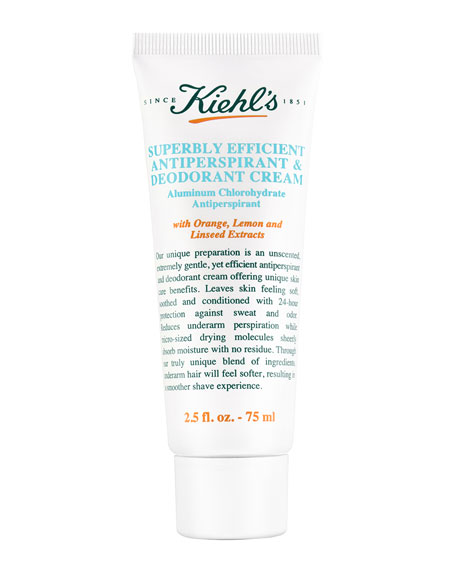 Image 1 of 2: Kiehl's Since 1851 2.5 oz. Superbly Efficient Anti-Perspirant & Deodorant Cream