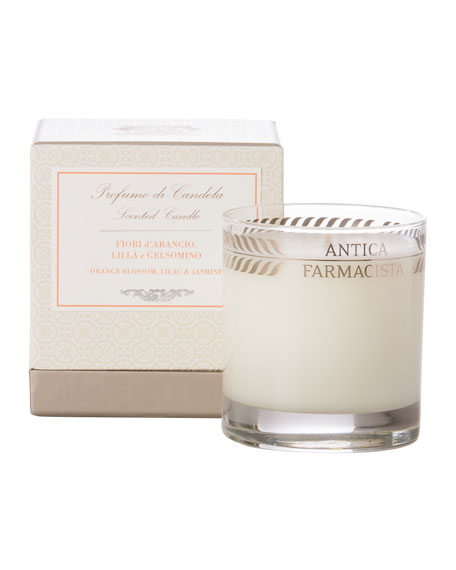 Orange Blossom, Lilac & Jasmine Scented Candle, 9 oz.