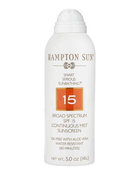 Hampton Sun SPF 15 Continuous Mist, 5 oz./ 148 mL