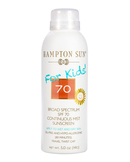 Hampton Sun SPF 70 For Kids! Continuous Mist, 5 oz./ 148 mL