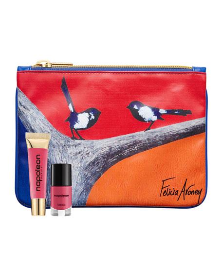 Flamingo Lip Gloss/Nail Polish Set