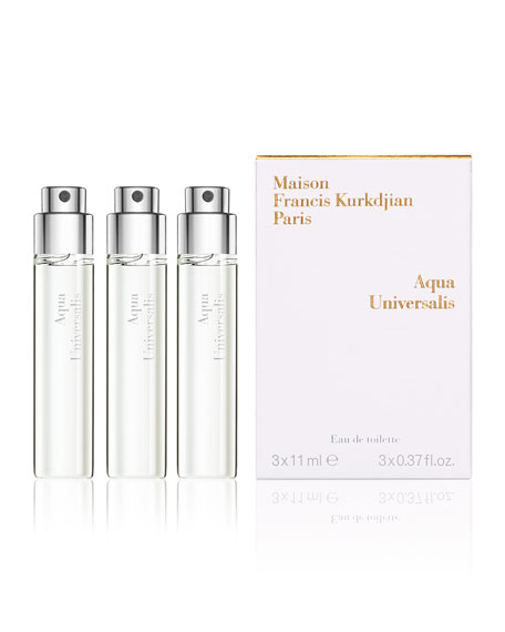 Maison Francis Kurkdjian Aqua Universalis Eau de Toilette Travel Spray Refills, 3 x 0.37 oz./ 11 mL