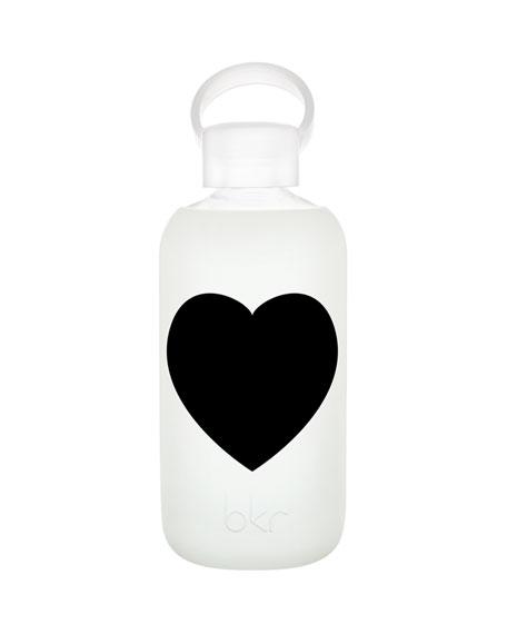 Glass Water Bottle, Black Tie, 500 mL