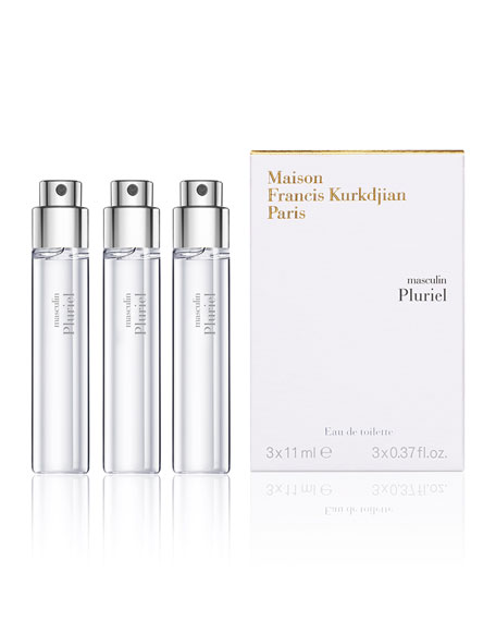 Maison Francis Kurkdjian masculin Pluriel Eau de Toilette Travel Spray Refills, 3 each 0.37 oz./ 11 mL
