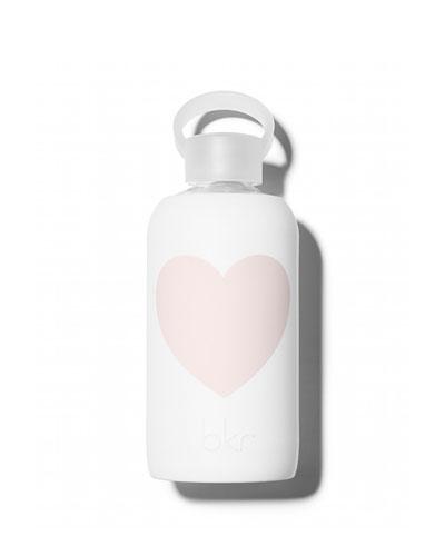 Glass Water Bottle, Winter Heart, 500 mL
