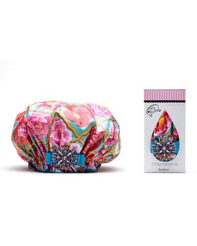 Pretty English garden shower cap