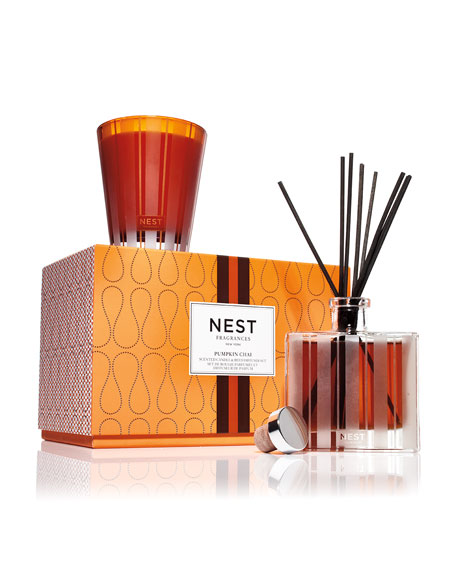 Image 2 of 3: Pumpkin Chai Candle + Diffuser Set