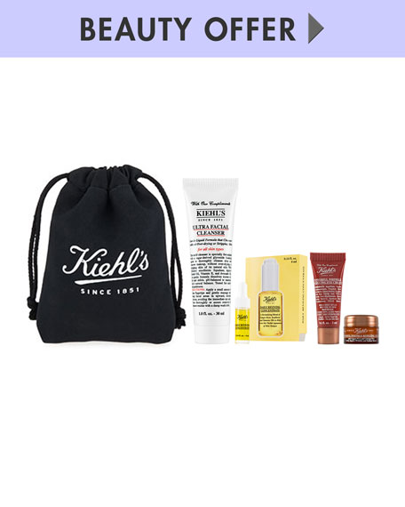 Receive a free 5-piece bonus gift with your $85 Kiehl's purchase