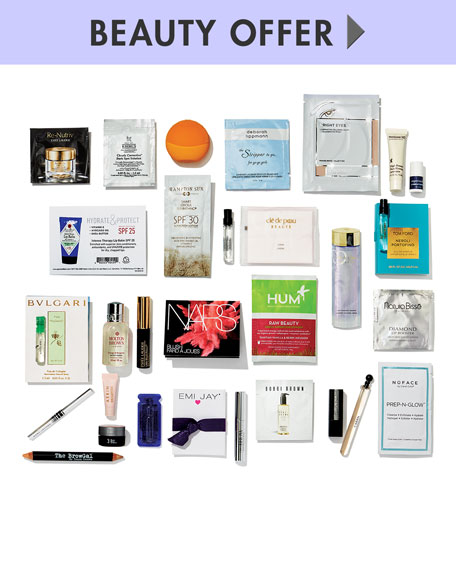 Yours with any $225 beauty or fragrance purchase—Online only*