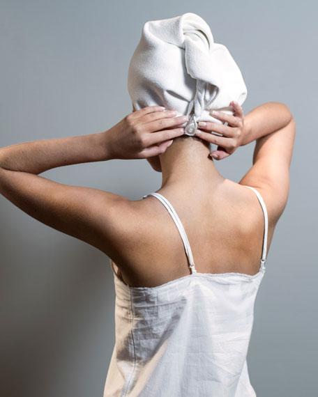 Luxe Hair Turban, White