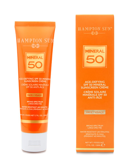 Image 2 of 2: Hampton Sun Age-Defying Mineral Crème Sunscreen for FACE SPF 50