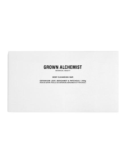 Grown Alchemist Body Cleansing Bar – Geranium Leaf/Bergamot/Patchouli, 7 oz. / 200g