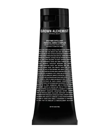Grown Alchemist Enzyme Facial Exfoliant: Papain & Amino Complex, 2.9 oz./ 75 mL