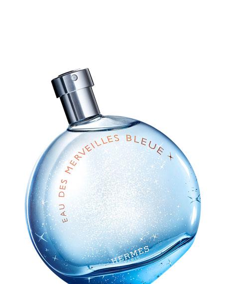 Hermes EAU DES MERVEILLES BLEUE EAU DE TOILETTE, 3.3 OZ./ 100 ML