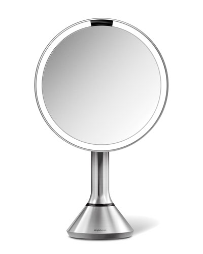 8 Sensor Makeup Mirror with Brightness Control  Brushed Stainless Steel