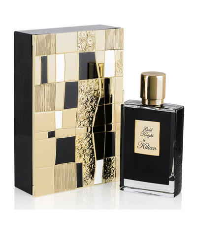 Gold Knight 50 mL Refillable Spray and its Coffret