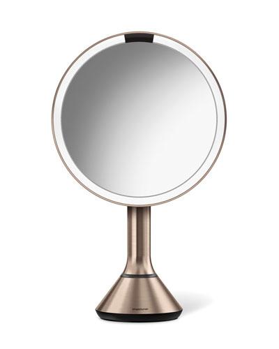 "8"" Sensor Makeup Mirror with Brightness Control  Rose-Tone"