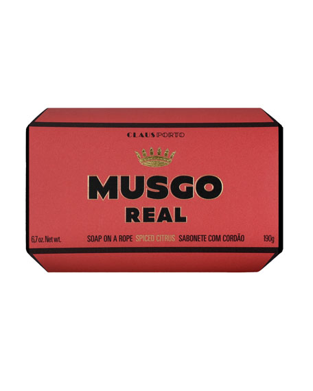 Musgo Real Spiced Citrus Soap on a Rope, 6.7 oz. / 190 g