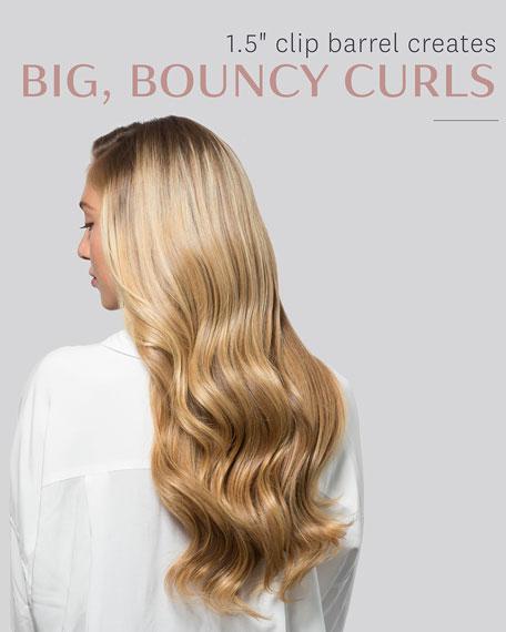 "Voluminous Curls 1.5"" Interchangeable Clip Curling Iron Barrel"