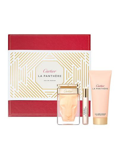 La Panthère Eau de Parfum Set – Body Milk & Purse Spray, 2.5 oz./ 74 mL