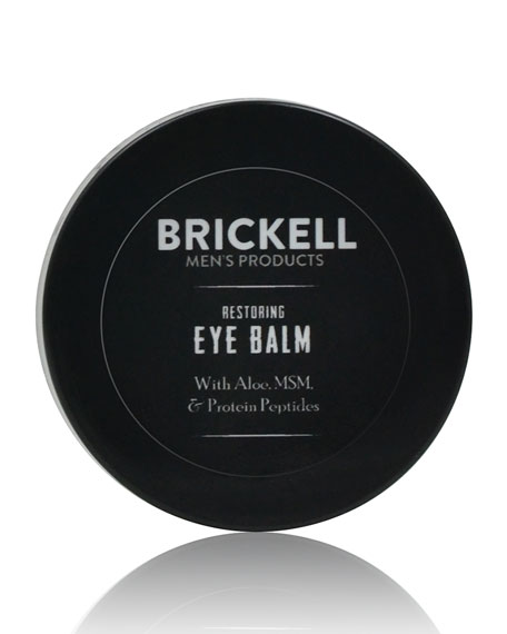 Brickell Men's Products Restoring Eye Balm, .5 oz./ 14 mL