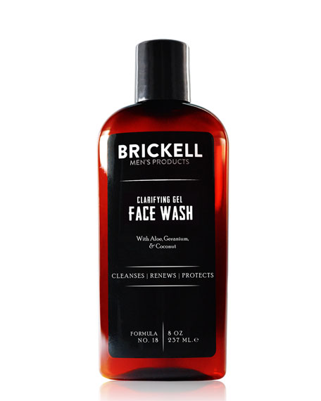 Brickell Men's Products Clarifying Gel Face Wash, 8 oz./ 237 mL