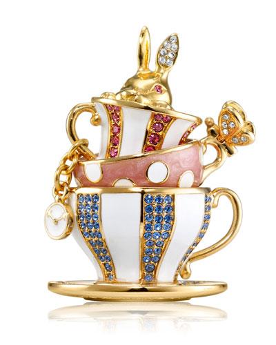 Beautiful Wonderland Tea PartyPerfume Compact by Monica Rich Kosann