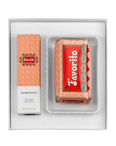 Exclusive FAVORITO Hand Cream+Soap+Dish Gift Set
