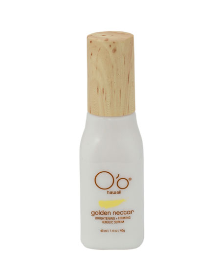 O'o Hawaii Golden Nectar Brightening+Firming Ferulic Serum, 30 g