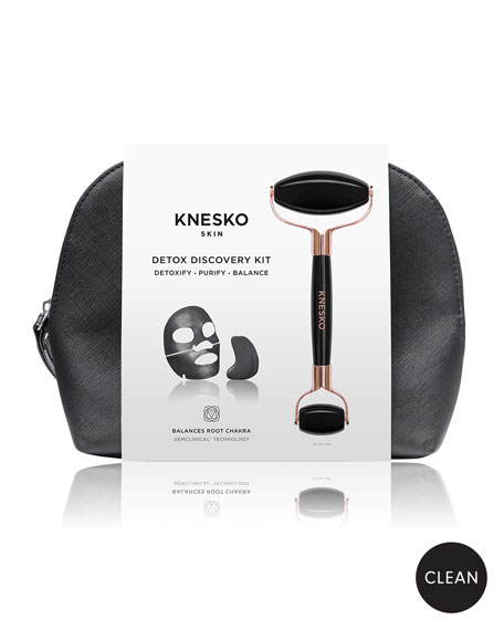 Knesko Skin Black Pearl Detox Travel Set ($151