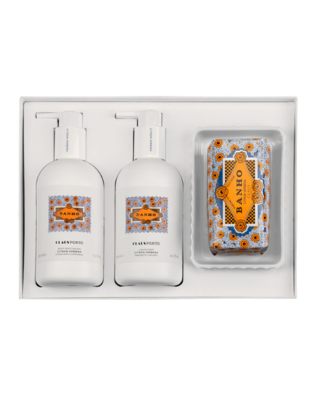 Claus Porto BANHO LIQUID SOAP BODY MOISTURIZER SOAP GIFT SET