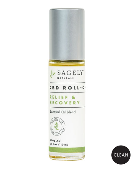 Sagely Naturals Relief and Recovery CBD Roll-On, .34 oz./ 10 mL