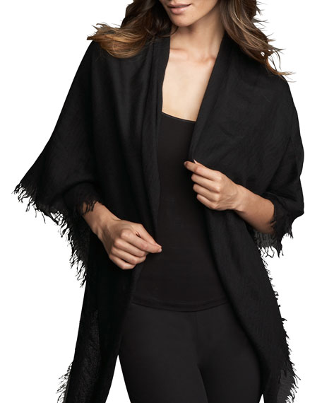 Ultra Lightweight Cashmere Scarf, Black