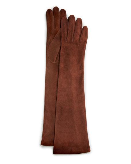 Portolano Elbow-Length Suede Gloves