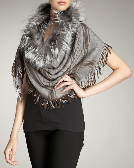Survie Fox Fur Scarf