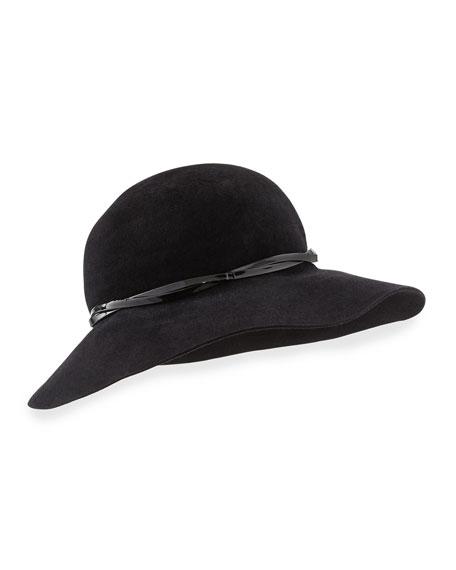 Moxi Lightweight Velour Hat, Black