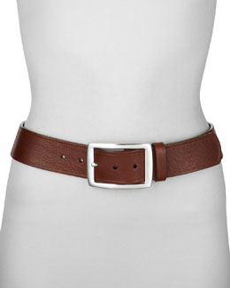 Neiman Marcus Contour Leather Jean Belt,Tan