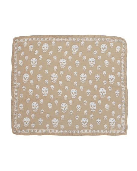 Skull Chiffon Scarf, Rope/Ivory