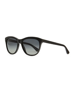 Oliver Peoples Reigh Semi-Round Sunglasses, Black