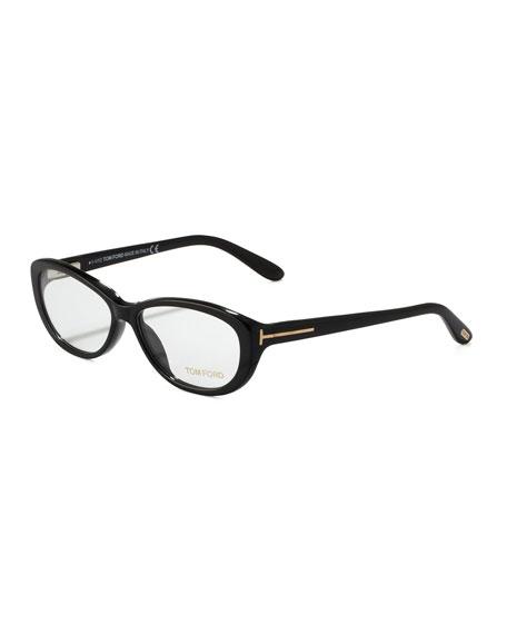 Soft Rounded Fashion Glasses, Black